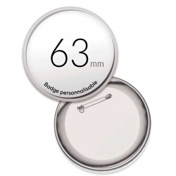 Badges ronds de 63mm