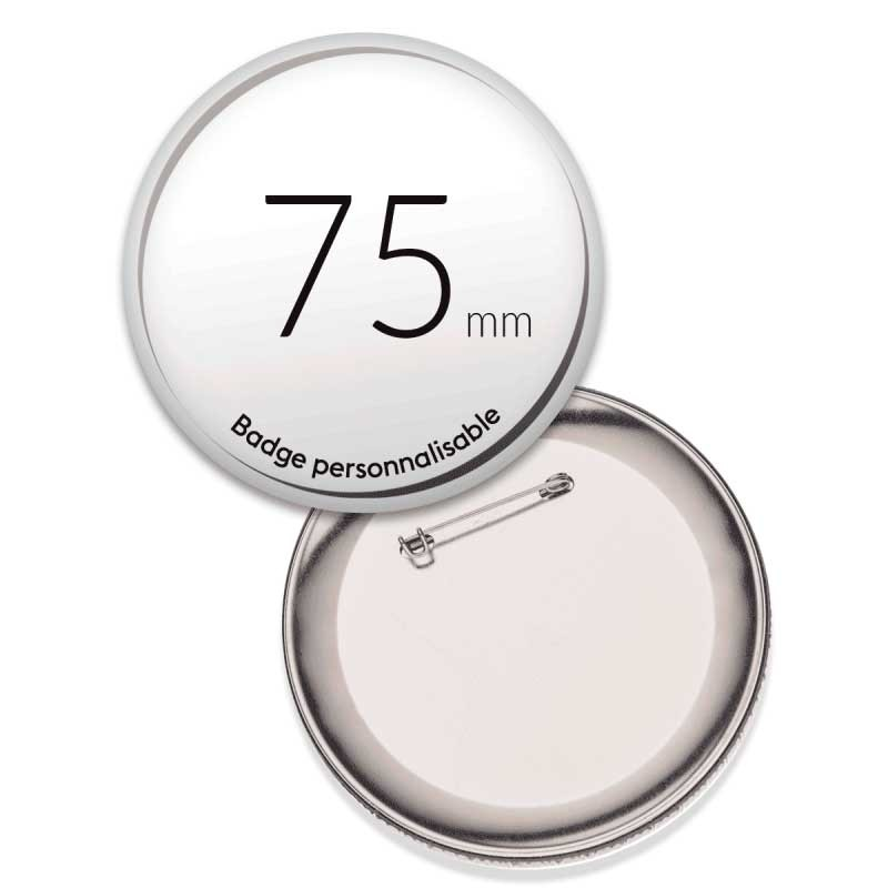 Badges ronds de 75mm