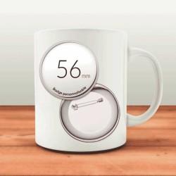 Pack mugs personnalisés et badges ronds épingle