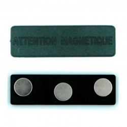 Attache aimant pour badge aimanté 63mm