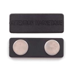 Attache magnétique pour badge aimanté 75mm