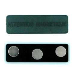 Attache magnétique pour badge aimanté 75mm - 3 aimants