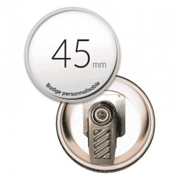 Badge pince rond de 45mm