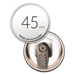 Badge pince rond de 45mm