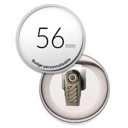 Badge avec pince rond de 56mm