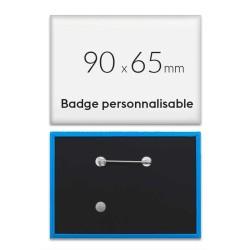 Badge rectangulaire personnalisé de 90x65mm