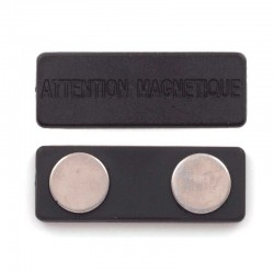 Aimant pour badge 75x50mm
