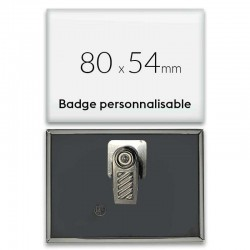 Badge avec pince rectangulaire