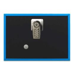Badge avec pince 90x65mm