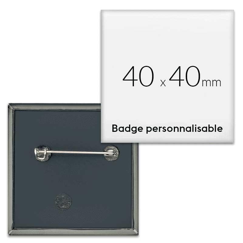 Badges carrés 40x40mm