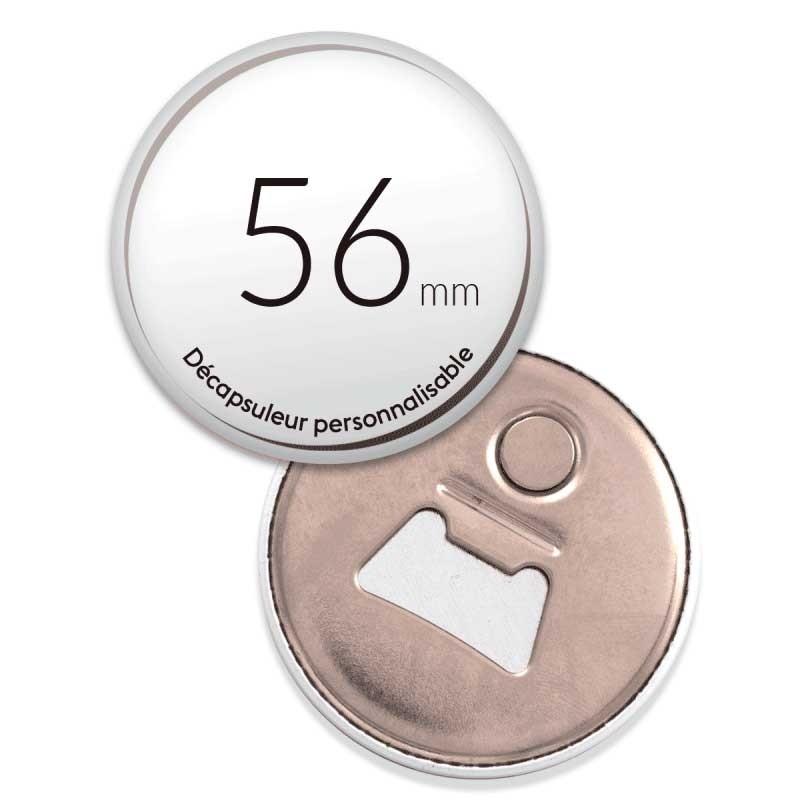 Décapsuleur personnalisé aimanté de 56mm