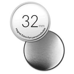 Tirettes blanche - Porte clés anneau 25mm
