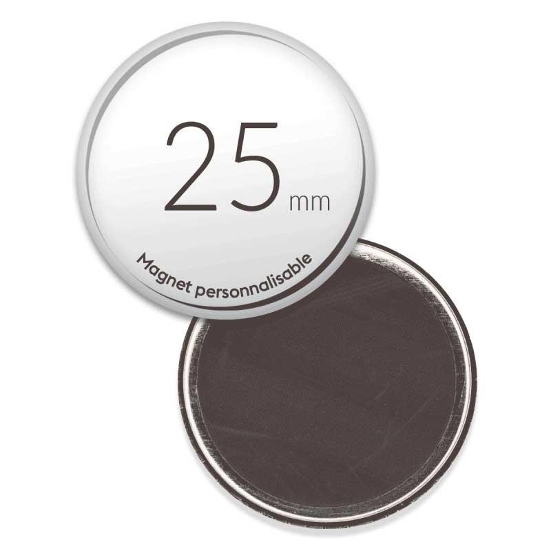 Magnet personnalisé aimanté  25mm
