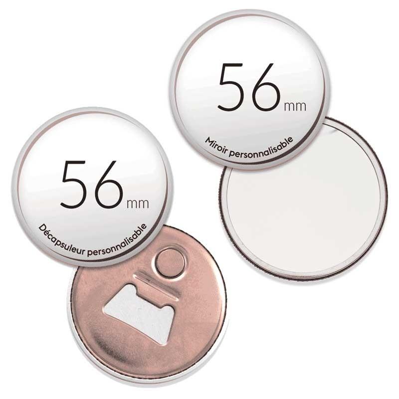 Pack Miroir de poche + Décapsuleur magnet