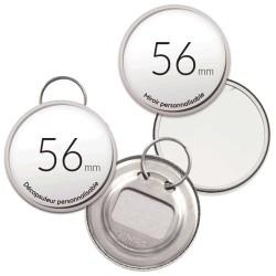 Pack Miroir de poche + Décapsuleur porte clé