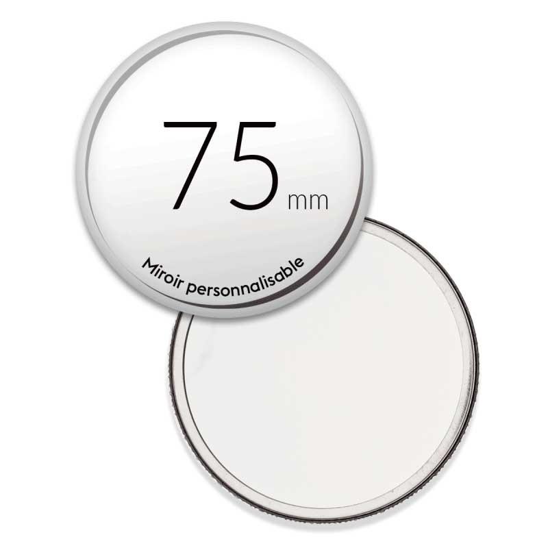 Miroir de poche personnalisé rond de 75mm