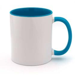 Mug personnalisé bleu et blanc