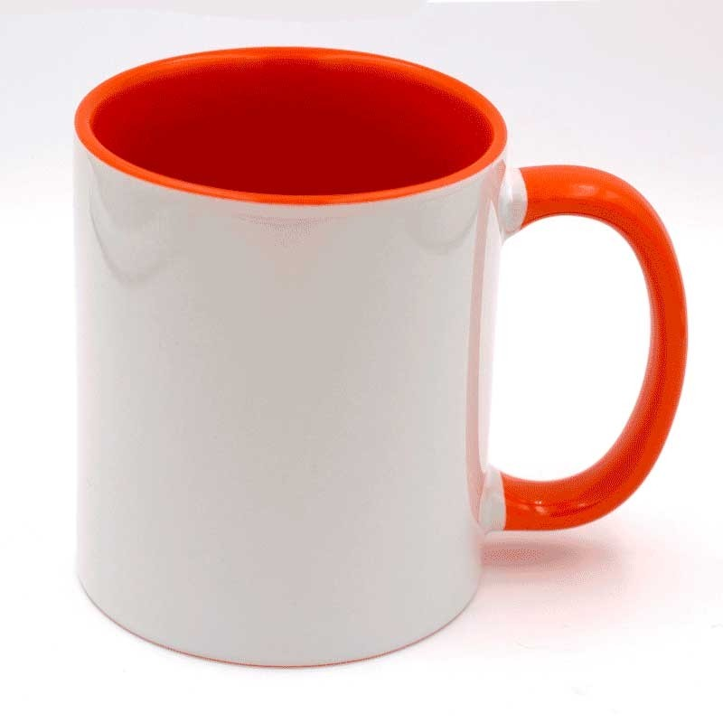 Mug personnalisable orange