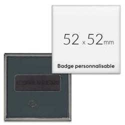 Badges carrés aimantés 52x52mm